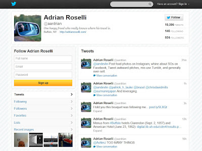 Screen capture of old Twitter header on desktop browser.