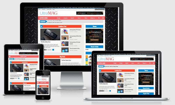 Ultra mag responsive blogger template