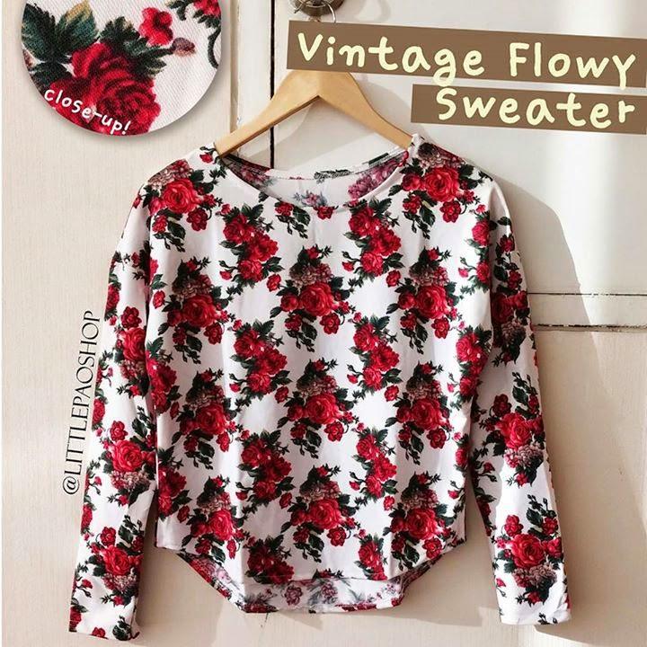 sweater bunga, sweater lucu bunga bunga, gambar bunga