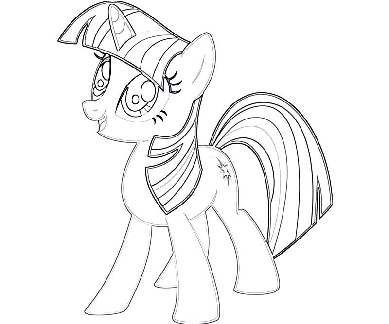#24 Twilight Sparkle Coloring Page