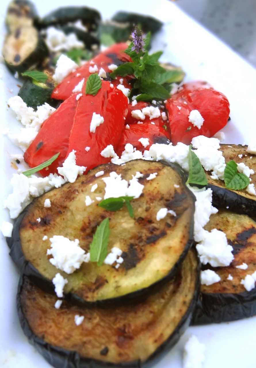 Scrumpdillyicious: Grilled Eggplant, Zucchini & Peppers with Feta