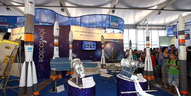 Roscosmos stand at the MAKS-2011. Credit: Wikipedia
