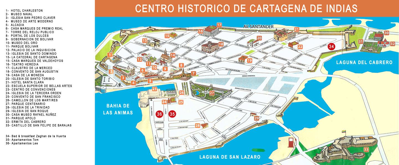 Cartagena De Indias Colombia Map - Cartagena de indias map