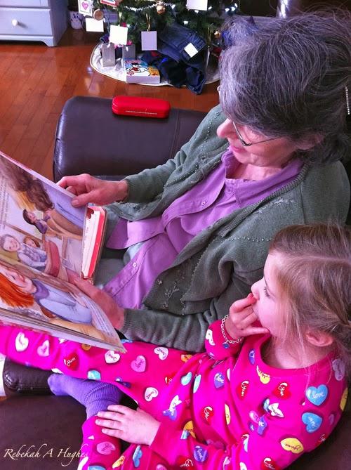 Grandma Reading Audrey Bunny