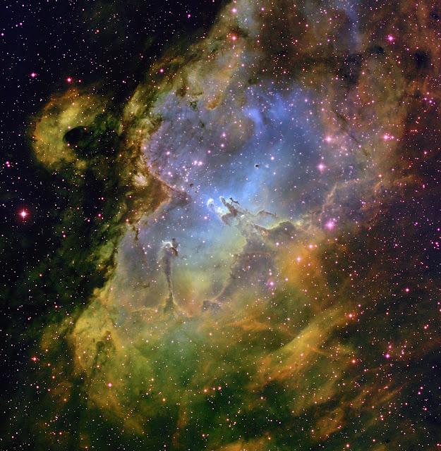 Cánh tay Sagittarius-Carina của Ngân Hà chúng ta là một khu vực hình thành sao rất năng động. Một trong những thiên thể sáng nhất ở nơi đây là Messier 16 - Tinh vân Đại Bàng. Credit : T. A. Rector & B. A. Wolpa, NOAO, AURA, NSF.