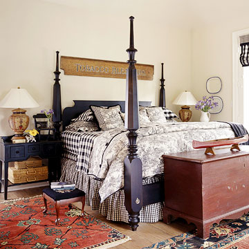 Rustic country french style home appliance for Rustic french bedroom