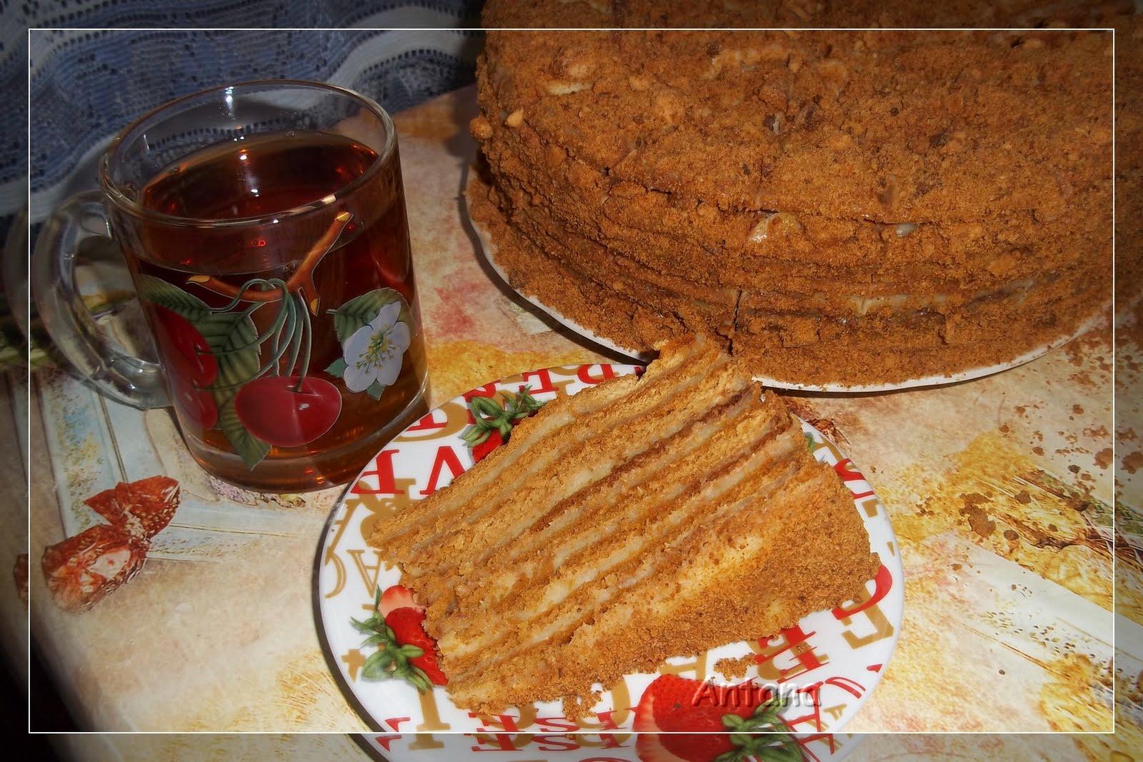 Заварной крем для торт медовик