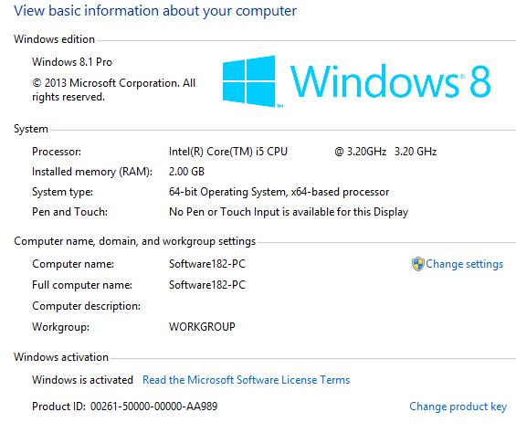Product ID Windows