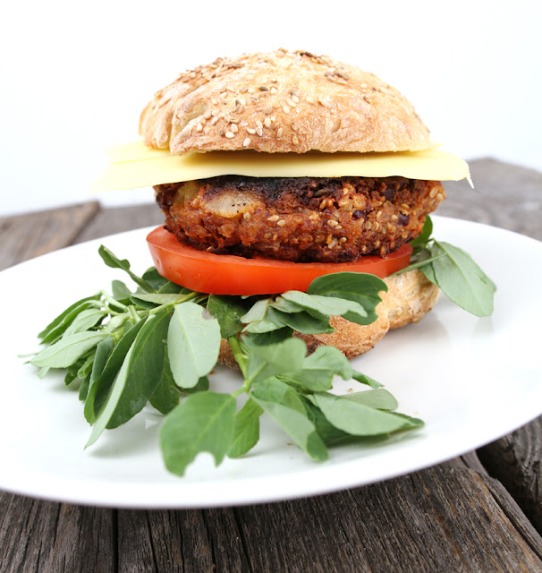 Oppskrift Hjemmelaget Veganburger Vegetarburger Potetburger Bønneburger