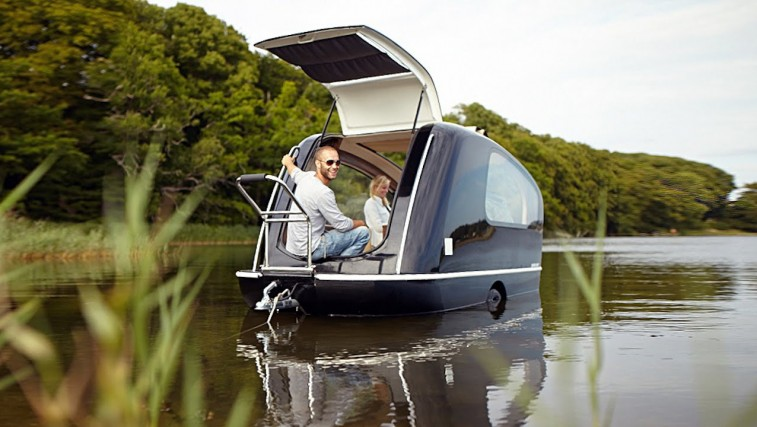 Victorian Free Camping The Caravan That Floats Like A Boat