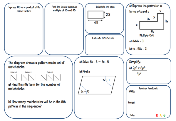 gcse foundation maths worksheets pdf