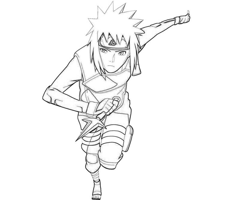 naruto minato and attack coloring pages