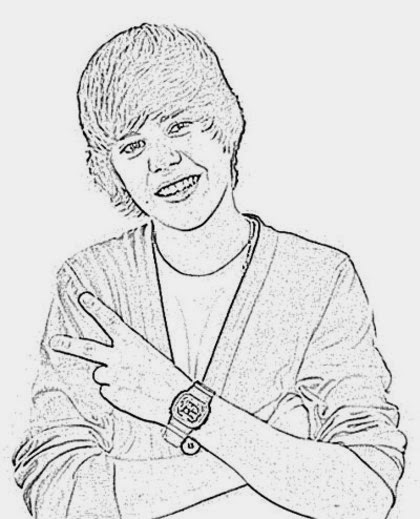 Coloring Pictures Of Justin Bieber Justin Bieber Coloring Pages