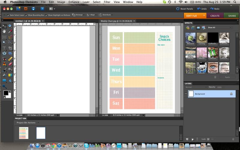 photoshop schedule template