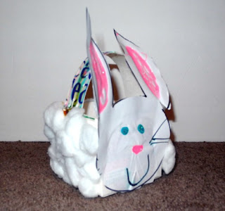 Easy Milk Carton Bunny Easter Basket Craft