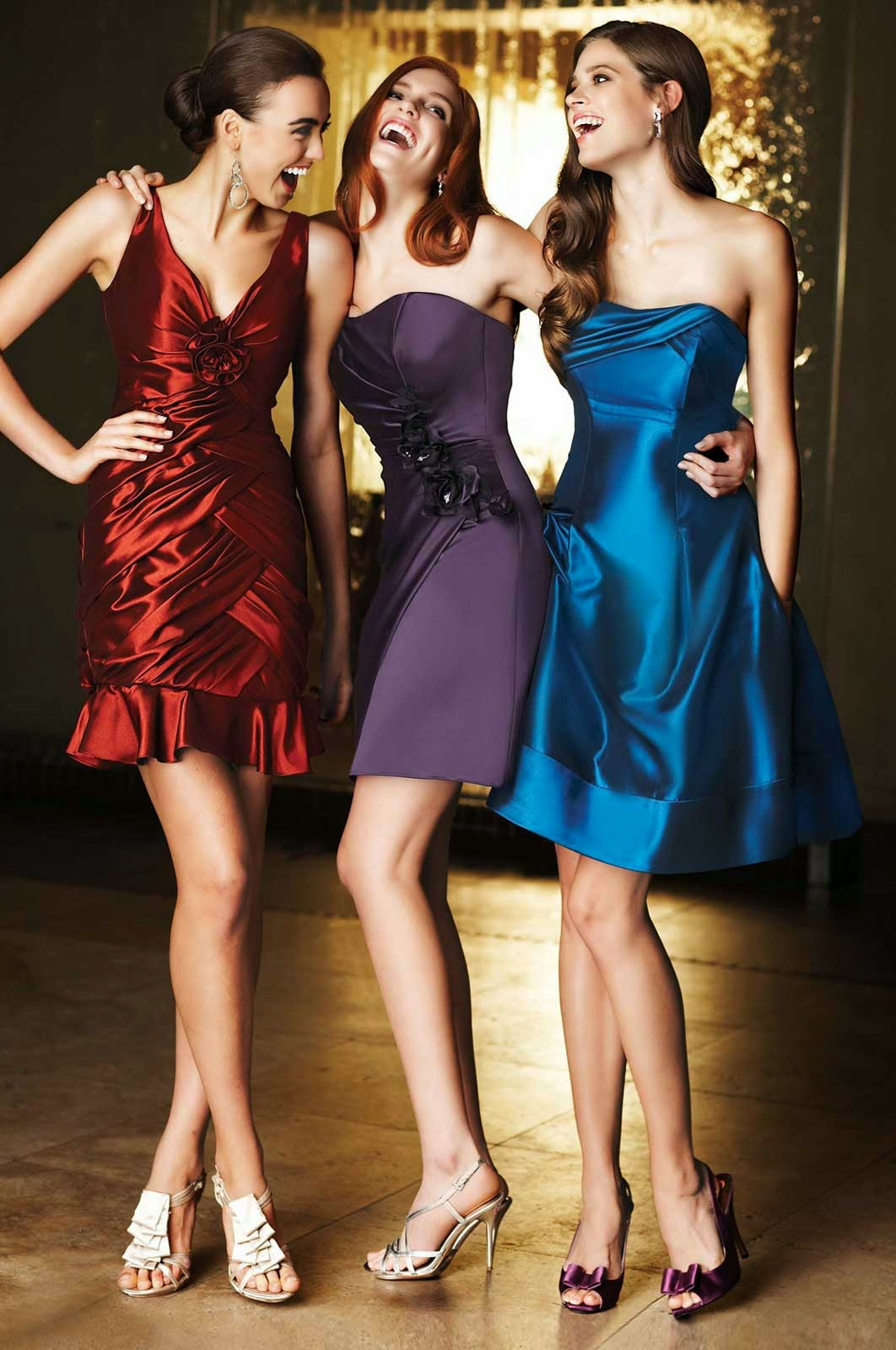 Red Wedding Dresses Bridesmaids Colours Style