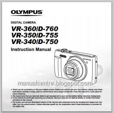Olympus VR 360 D760 Manual Cover