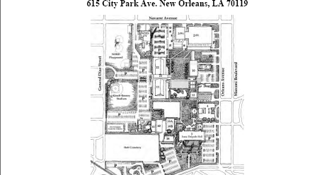 Delgado Community College Libraries Blog: City Park Campus Map
