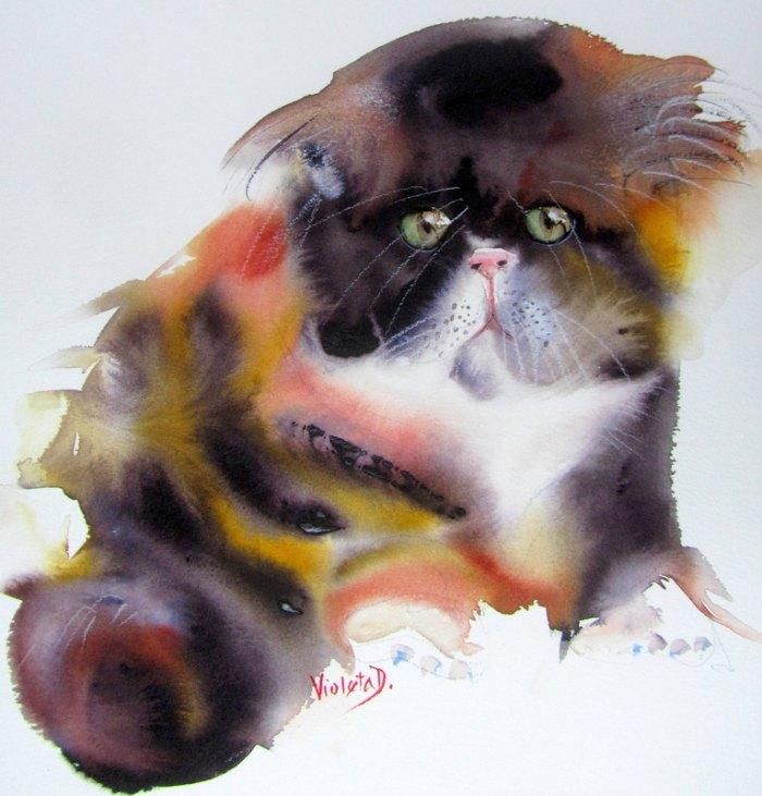 Акварельная живопись. Violeta Damjanovic-Behrendt
