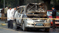 Aftermath of Israel embassy car bomb in India