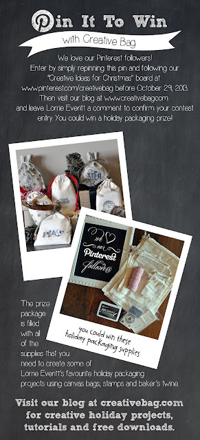 Creative Bag's Pin It To Win Contest - enter before end of day October 29, 2013