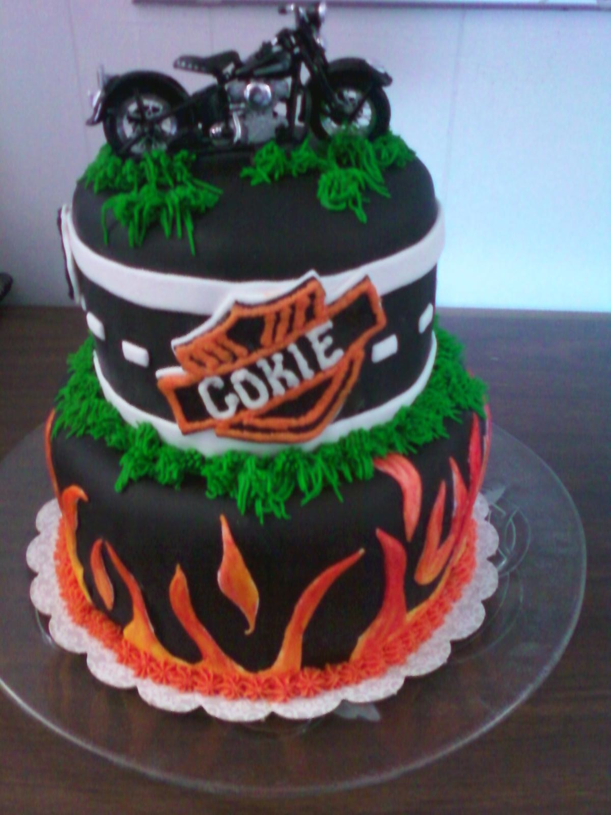 Baking Memories Harley Davidson Birthday Cake