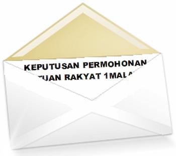 Keputusan diumumkan melalui pos ke alamat rumah anda