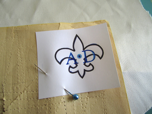Embroidery transfer, how to
