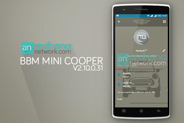 BBM Mini Cooper Material Design