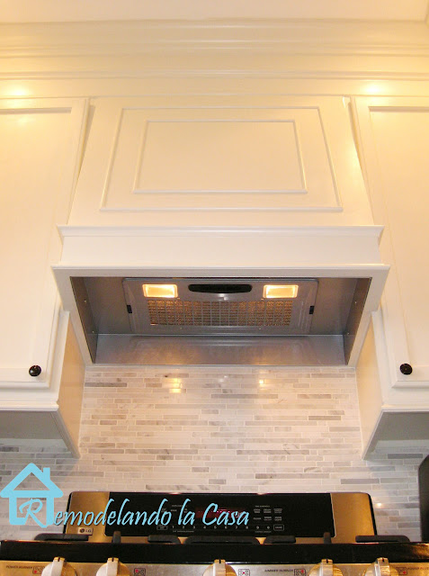 how to build a range hood for kitchen using a hood liner and wood.