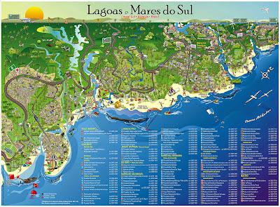 Mapa do litoral Sul de Alagoas