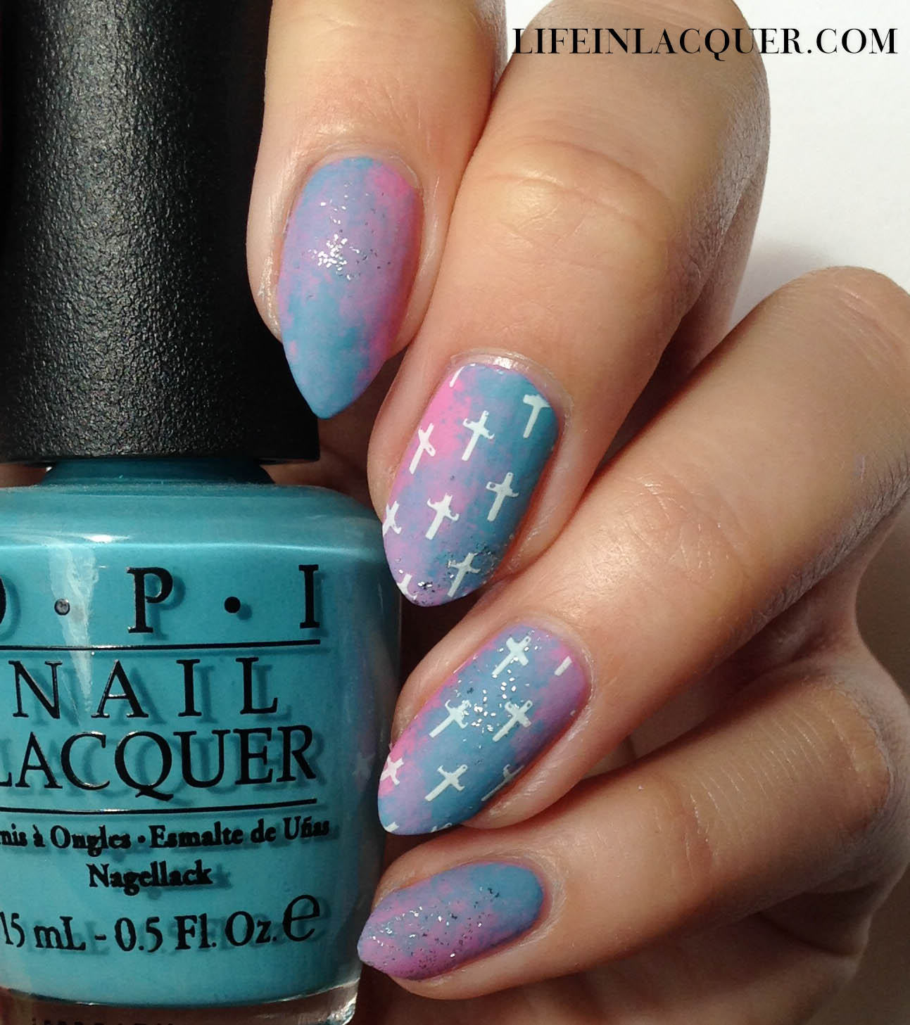 Pastel Galaxy Nail Art With Stamping moyou london