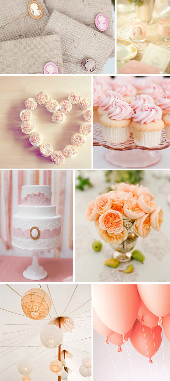 Peach and Blush Wedding Color Scheme
