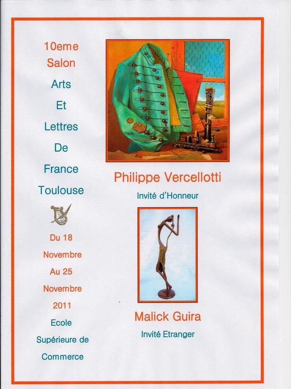 Les arts et lettres de france haute garonne 10eme salon international des alf toulouse - Salon international d art contemporain toulouse ...