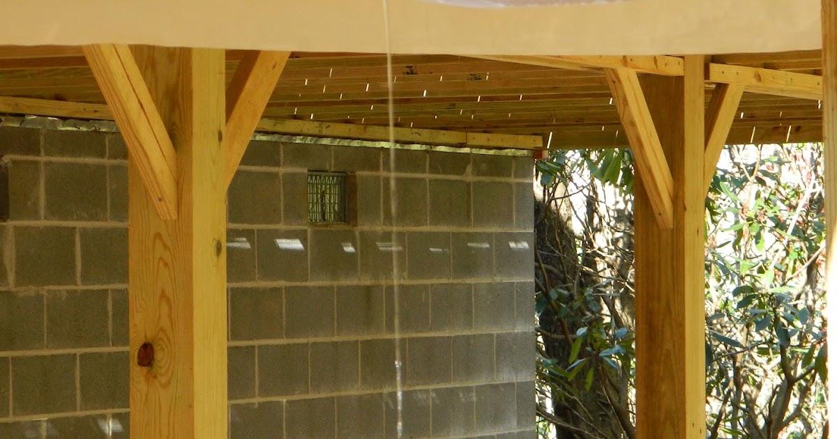 Lise S Log Cabin Life Building A Quot Rain Shield Quot Under The Deck