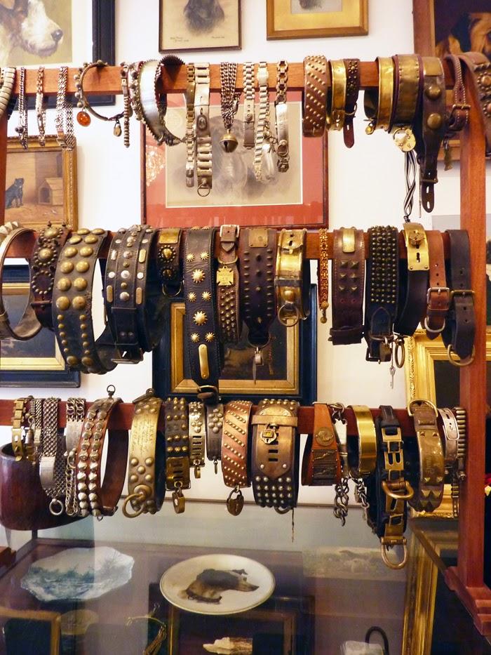 antique dog collar, brass dog collar, rare dog collar, victorian dog collar