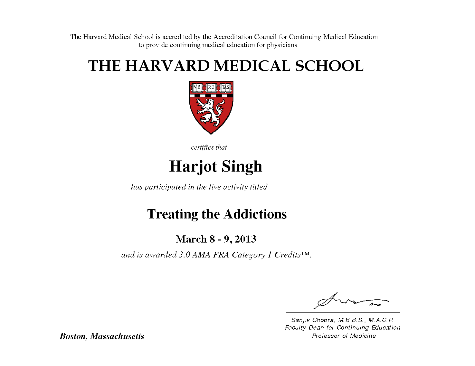 The Doctors Blog PARTICIPATION CERTIFICATE OF DR HARJOT SINGH – Medical Certificate for School
