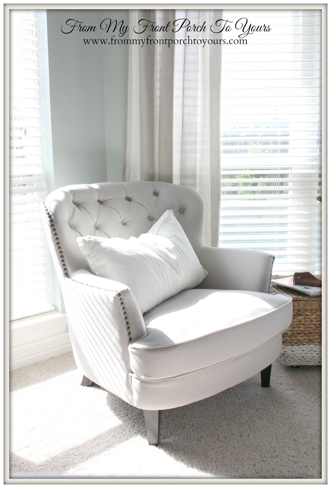 From My Front Porch To Yours- Bedroom Reading Nook- Joss & Main Chair