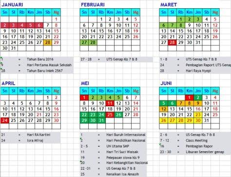 Kalender Pendidikan 2016