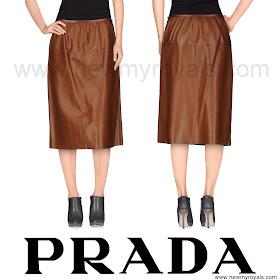 Crown Princess Mary Style PRADA Length Skirt