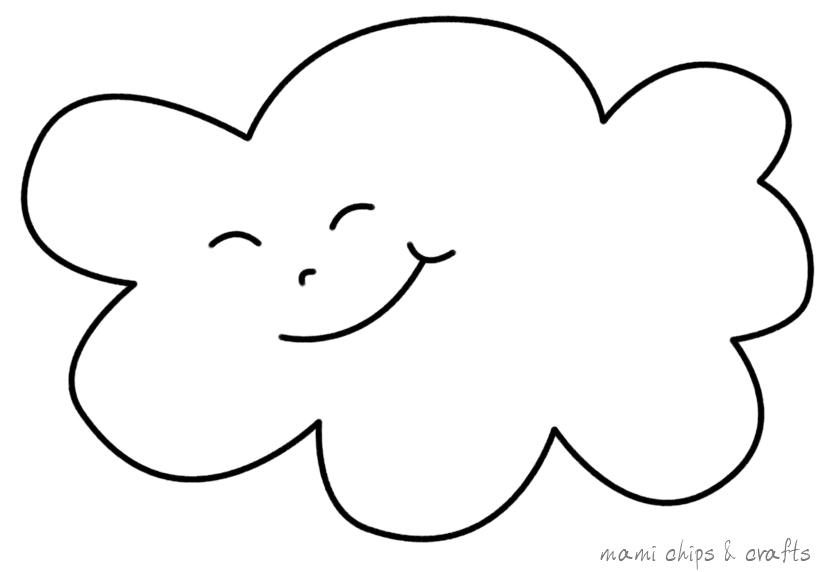 Mami chips crafts realizzare un cuscino nuvoletta for Nuvola da colorare