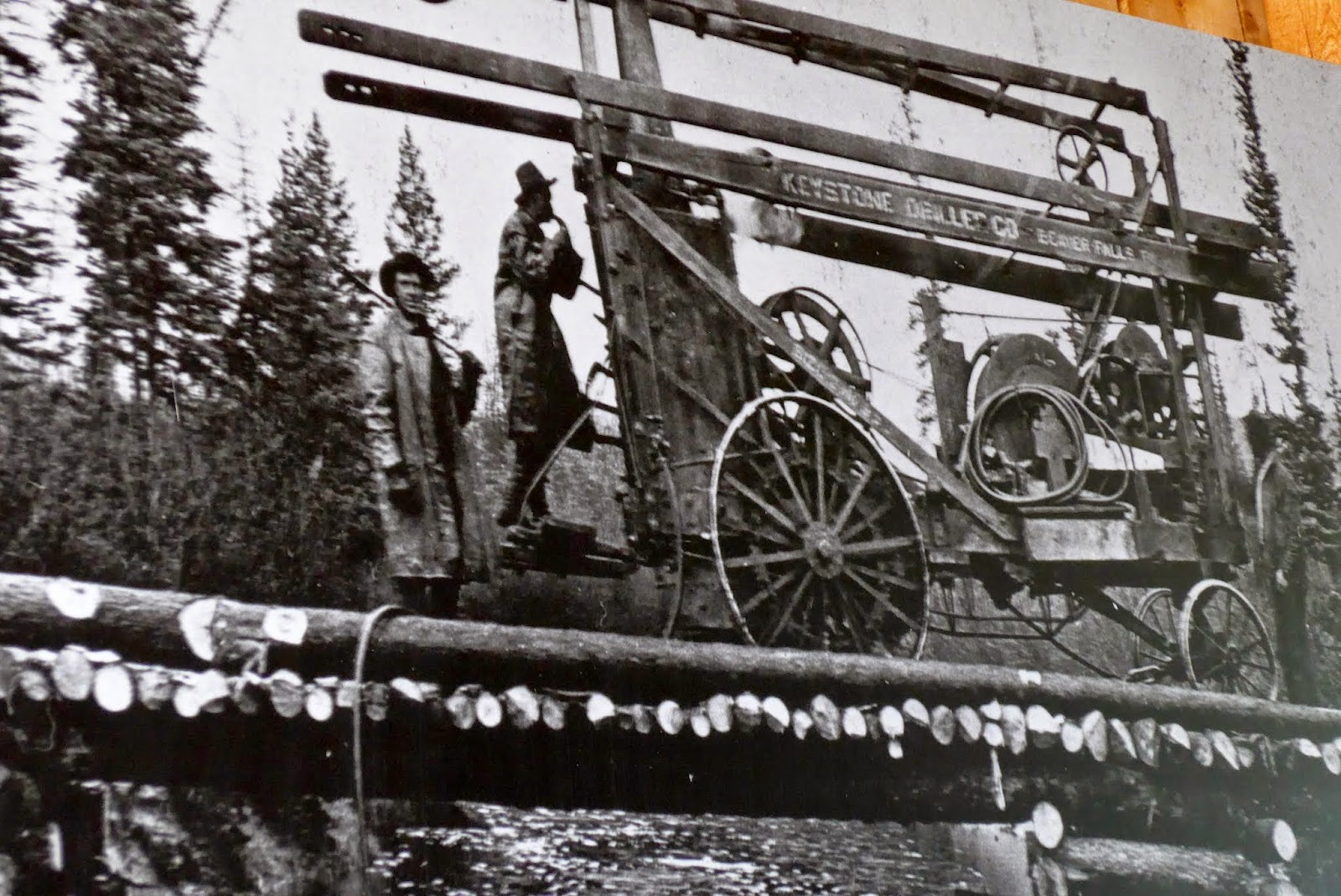 This contraption was walked on it's own power from Dawson City to Keno