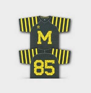 "Image of Michigan ""retro"" jersey is leaked to the media."