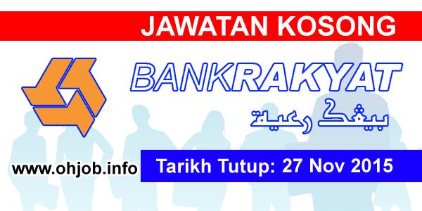 Jawatan Kerja Kosong Bank Kerjasama Rakyat Malaysia (Bank Rakyat) logo www.ohjob.info november 2015
