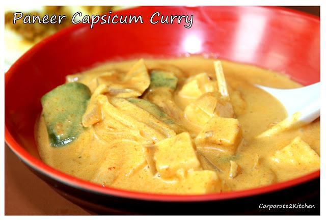 Panner Capsicum curry