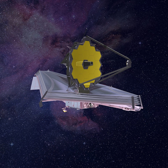 The rendering of the James Webb Space Telescope. Credit: Northrop Grumman