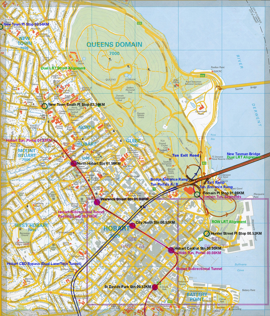 Hobart Light Rail Metro 6 The Hobart LRM Network and its Alignment