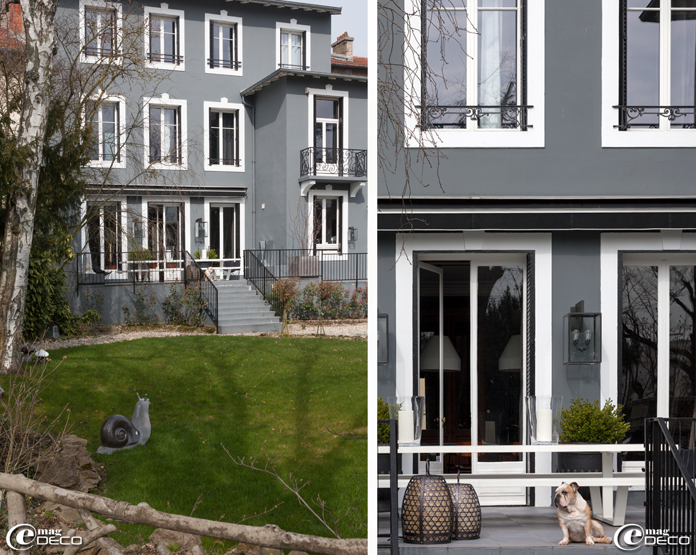 Façade et jardin de la maison d'hôtes 'La Villa 1901' à Nancy