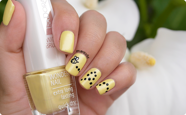 manicura abeja bee nails isadora sunray