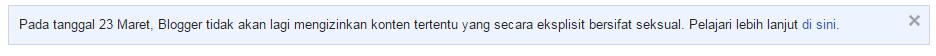 Pengumuman google atas kebijakan 23 Maret 2015